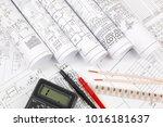 electrical engineering drawings ... | Shutterstock . vector #1016181637