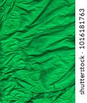 sheet of wrinkled green colored ... | Shutterstock . vector #1016181763
