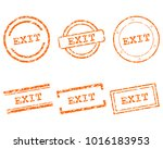 exit stamps on white | Shutterstock .eps vector #1016183953