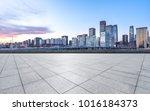 empty marble floor with... | Shutterstock . vector #1016184373