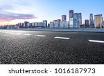 empty road with panoramic... | Shutterstock . vector #1016187973