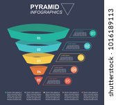 pyramid infographics. funnel... | Shutterstock .eps vector #1016189113