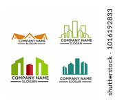 real estate logo set   abstract ... | Shutterstock .eps vector #1016192833