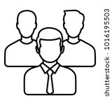 group of people. line icon... | Shutterstock .eps vector #1016195503