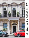 Small photo of LONDON, UNITED KINGDOM - August 3rd, 2014:detail of a street in Mayfair, in an affluent area of London city centre