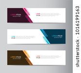 vector abstract banner design.... | Shutterstock .eps vector #1016199163