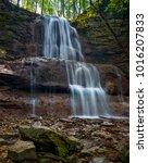 a beautiful waterfalls flowing... | Shutterstock . vector #1016207833