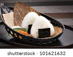 rice ball - stock photo
