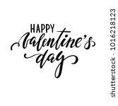 happy valentine's day. hand... | Shutterstock . vector #1016218123