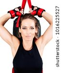 young active woman workout ... | Shutterstock . vector #1016225527