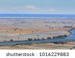 ebro river and delta  with... | Shutterstock . vector #1016229883