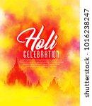 holi beautiful colourful... | Shutterstock .eps vector #1016238247