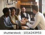 insurance salesman or mortgage...   Shutterstock . vector #1016243953