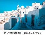 pyrgos  santorini  greece....   Shutterstock . vector #1016257993