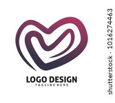 love line color logo design | Shutterstock .eps vector #1016274463
