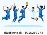 isometrics doctors jump ... | Shutterstock .eps vector #1016293273
