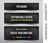 retro peg board with... | Shutterstock .eps vector #1016307547