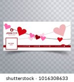 abstract valentine's day... | Shutterstock .eps vector #1016308633