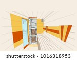 project of sauna and showers... | Shutterstock .eps vector #1016318953