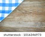 napkin on wooden background ....   Shutterstock . vector #1016346973