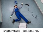 elevated view of unconscious... | Shutterstock . vector #1016363707