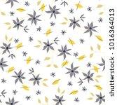 small flowers. seamless pattern ... | Shutterstock .eps vector #1016364013