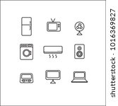 electronics vector icons set ... | Shutterstock .eps vector #1016369827