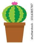 vector illustration of a cute... | Shutterstock .eps vector #1016385787