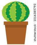 vector illustration of a cute... | Shutterstock .eps vector #1016385793