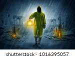 destroyed place after a...   Shutterstock . vector #1016395057