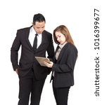 business woman portrait holding ... | Shutterstock . vector #1016399677
