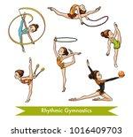 vector colorful set of rhythmic ... | Shutterstock .eps vector #1016409703