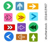 different arrows buttons icons... | Shutterstock .eps vector #1016415907