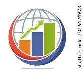 logo icon with global economic... | Shutterstock .eps vector #1016424973