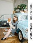young beautiful caucasian woman ...   Shutterstock . vector #1016428003
