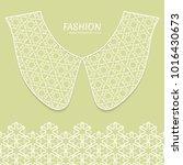 vector fashion background.... | Shutterstock .eps vector #1016430673
