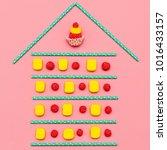 sweet home.  candy art. ... | Shutterstock . vector #1016433157