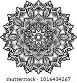 mandala pattern black and white ... | Shutterstock .eps vector #1016434267