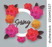 floral spring graphic. spring...   Shutterstock . vector #1016441527