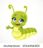 cute little green caterpillar... | Shutterstock .eps vector #1016446303