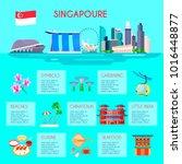 colored singapore culture... | Shutterstock . vector #1016448877
