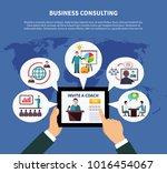 business online composition...   Shutterstock . vector #1016454067
