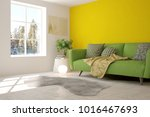 yellow room with sofa and...   Shutterstock . vector #1016467693