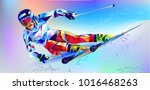 the polygonal colourful... | Shutterstock .eps vector #1016468263