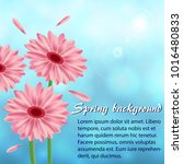abstract spring background with ... | Shutterstock .eps vector #1016480833