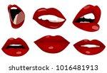 lips design   set   shape   red ...   Shutterstock .eps vector #1016481913