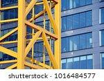 construction of high rise... | Shutterstock . vector #1016484577