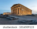 the second temple of hera in...   Shutterstock . vector #1016509123