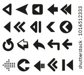 set of arrows vector  | Shutterstock .eps vector #1016512333
