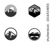 set of vector mountain and... | Shutterstock .eps vector #1016514853